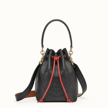 NWT Fendi Mon Tresor black Leather Shoulder small bucket Bag; Rtl $2290 - $1,599.99