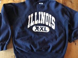 Illinois Fighting Illini Large Blue Mint Thick Reverse Weave - $31.35