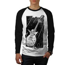 Skull Music Bass Guitar Long Sleeve Men Shirt Men Tee - $12.99