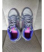 Womens New Balance 8.5D Wide Width Tennis Shoes Gray Pink Purple WTE412N2 - $34.99