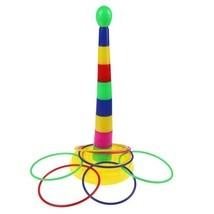 Outdoor Kids Game Ring Toss Ring Lawn Fun Games Beach Play Children Fami... - $14.01