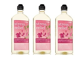 Lot of 3 Bath & Body Works Aromatherapy Sandalwood Rose Stress Relief Bo... - $159.99