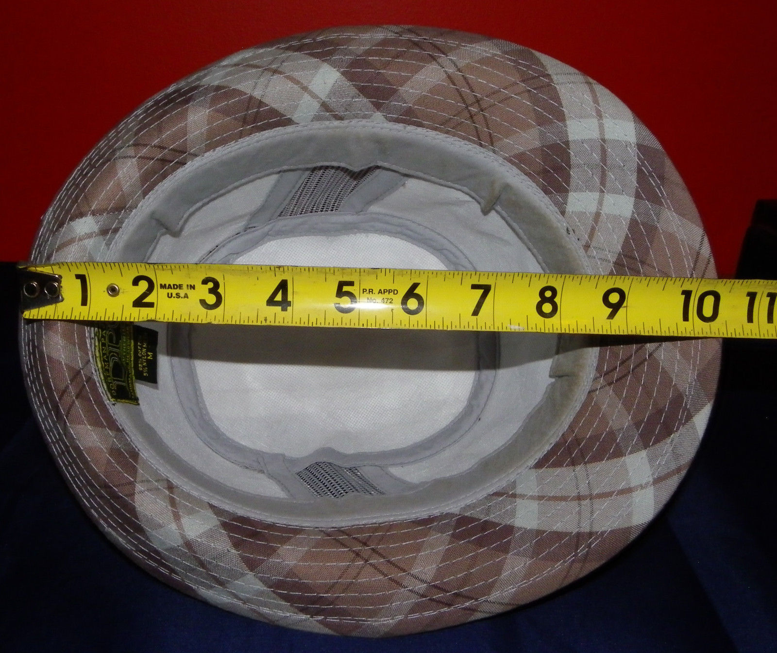 Dorfman Pacific Authentic Handmade Headwear Size M Warm Plaid Fedora Trilby image 12