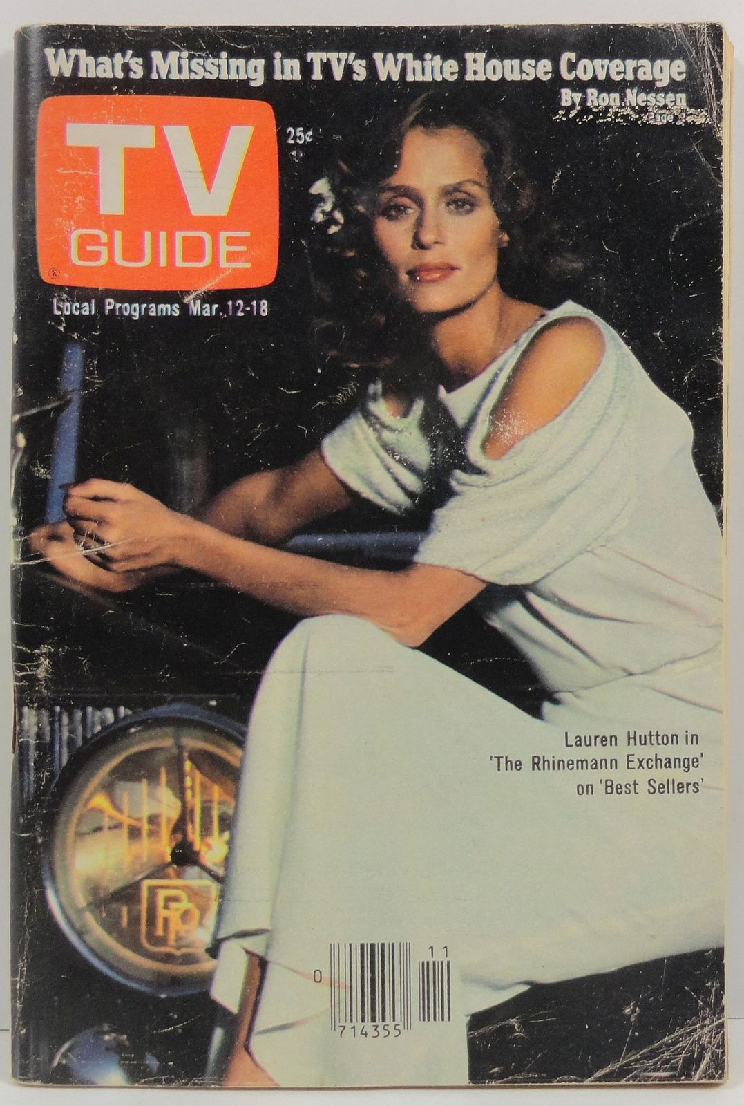 Primary image for TV Guide Magazine March 12, 1977  Lauren Hutton Cover