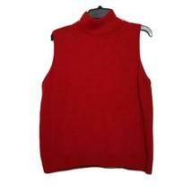 Design Originals Women's Sweater ~ 3X ~ Red ~ Sleeveless ~ Knit - $14.84