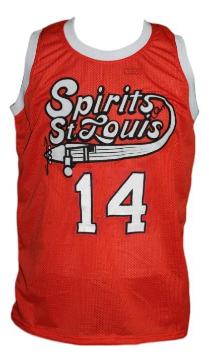 Freddie lewis  14 st louis retro aba custom basketball jersey orange   1