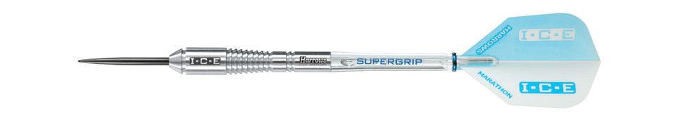 Harrows WHITE ICE 90% Tungsten 23 Gram Steel Tip Darts 23gR