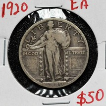1920 Standing Liberty Silver 25¢ Quarter Coin Lot A 617