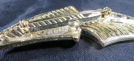 "Vintage Fashion Jewelry Lady Leaf Coro Brooch Retro Gold Color 2""3/4 image 7"