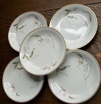 Royal Ceramics RC Japan Gold & Black Swirl & Pink Floral Small Plates 1389 - $32.72