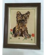 Yorkie Yorkshire Terrier dog Art Wall decor yarn Art handmade 1973 - $138.60