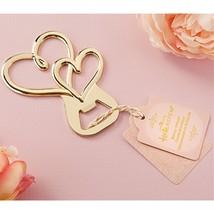 Gold Double Heart Bottle Opener - 80 Pack - $217.60