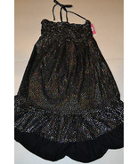 Circo Girls Sun Dress  Bathing Suit Cover Up Size  S 5-6  NWT Black Hearts  - $10.39
