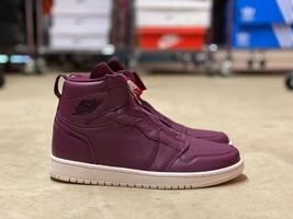 Nike Air Jordan 1 Retro High Zip Women Shoes Bordeaux AT0575-600 NEW Mul... - $79.17