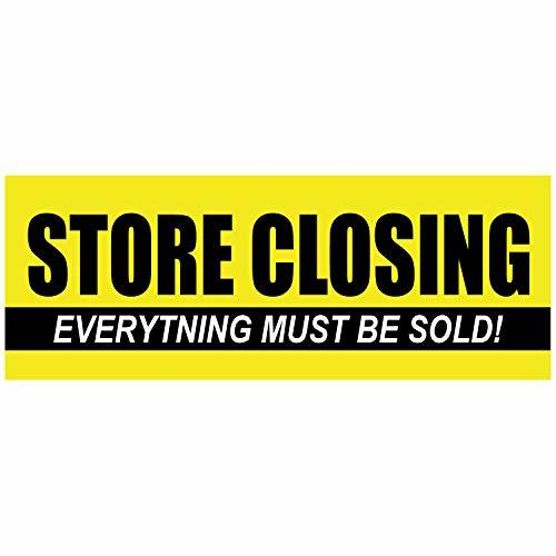 Store Closing Everything Must GO! Clearance Sale Vinyl Banner Store Closeout 11