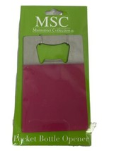 MSC Mainstreet Collection Pocket Bottle Opener, Pink, New - $4.74