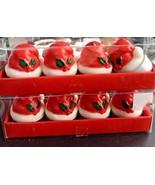 Santa Hat Votive Candles Christmas NEW 2 Packs 8 Total Wegmans T Lite Ho... - $19.75