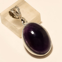 Natural Egyptian Black Onyx Pendant 925 Sterling Silver Mothers Day Fine Jewelry - $17.19