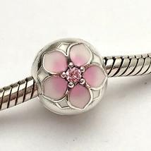 Authentic Pandora Magnolia Bloom w/ Pink CZ Clip Charm 792078PCZ New - $51.29