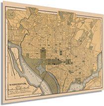 1897 Map of Washington DC - Washington DC Vintage Map - DC Map Wall Art ... - $34.99+