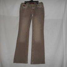 Baby Phat Women's Juniors Light Brown Distressed Jeans Size 9 - $13.21