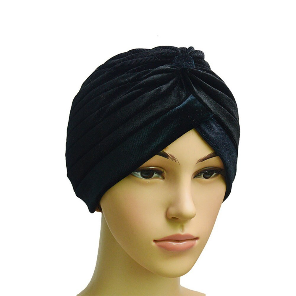 Primary image for Woman Wear Velvet Hat Muslim Indian Turban Cap  Wrap Solid Stretch