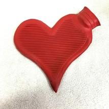 Older Red Heart Shaped Hot Water Bottle In Great Shape T107 - $19.80