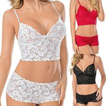 Sexy Women's Push-up Padded Nightwear Bra Set Solid High Waist Lace Unde... - $11.99