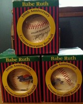 OFFICIAL BABE RUTH COMMEMORATIVE EDITION BASEBALL 100TH ANNIVERSARY COA ... - $13.10
