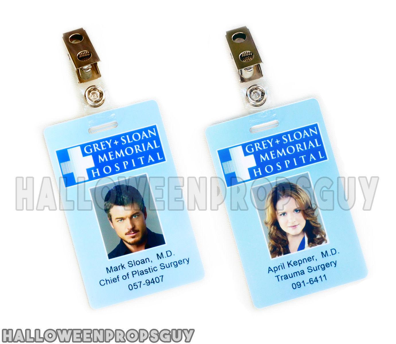 Grey\'s Anatomy Grey + Sloan Meredith Grey ID and 50 similar items