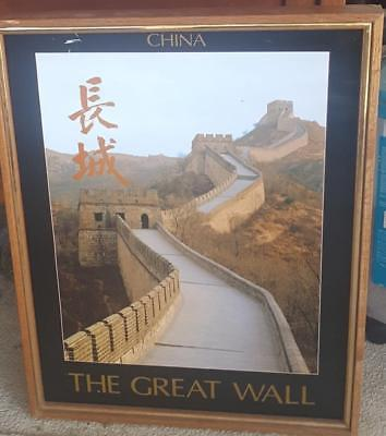 China, The Great Wall Poster - FRAMED - NICE WOODEN FRAME - NICE POSTER