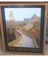 China, The Great Wall Poster - FRAMED - NICE WOODEN FRAME - NICE POSTER - $39.59