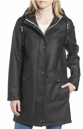 Primary image for Levi's Fishtail Waterproof Rain Coat Jacket Black Women's Zip Parka XS NWT $180