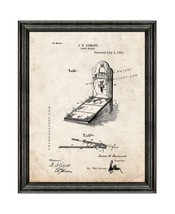 Game Board Patent Print Old Look with Black Wood Frame - $24.95+