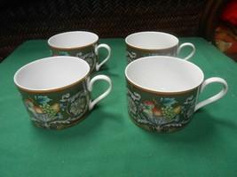 Beautiful Mikasa California Della Robbia Green ......Set Of 4 Cups - $19.39