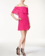 Kensie Womens Pink Eyelet Off The Shoulder Short Dress Size Small $89            - $15.83
