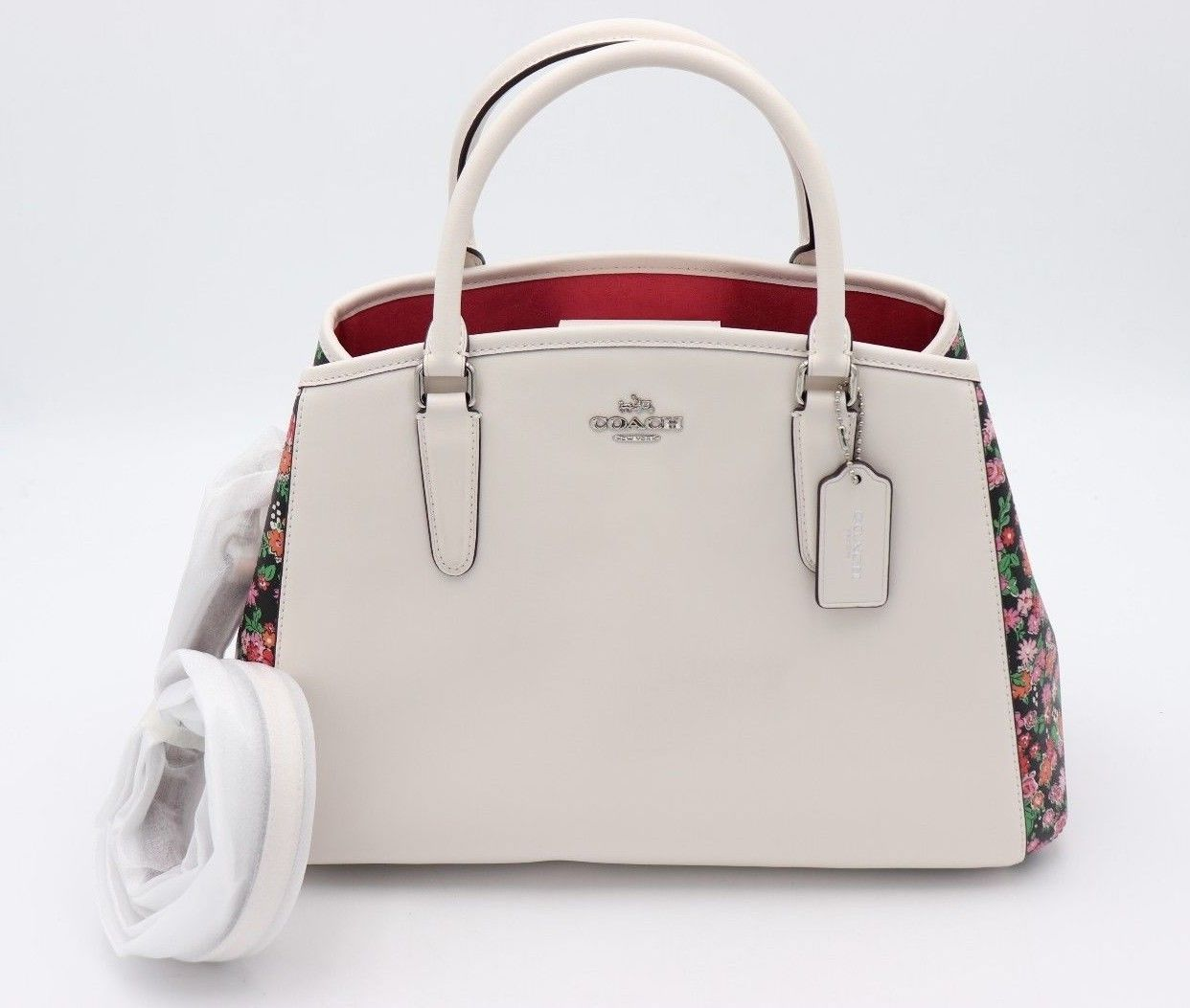 NWT Coach Margot Posey Cluster Floral Print Carryall Convertible Bag 57631 $425