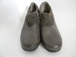 "Clarks Bendables Womens Gray Leather Upper 2.25"" Ankle Boots Size 7M 62980 - $27.99"