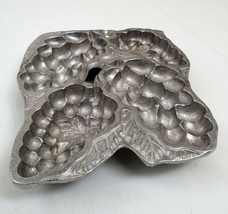 Wilton Pewter Grape Vine Cast Mold Treats Mint Candy Holder Gelatin Jell... - $25.73