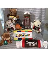 Tootsie Roll Pop Plush Teddy Bear Good Stuff Hershey Bar Figure Kiss Bea... - $29.69