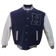 Tommy Hilfiger WOOL/LEATHER Bomber Jacket Th M4227 - $295.00