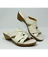 Naturalizer Size 7.5 N White Slide On Sandals Criss Cross Bands Comfort ... - $16.14