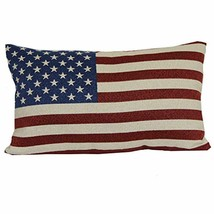 "Brentwood Originals 08415001 Indoor/Outdoor Pillow, 12"" x 20"", American ... - £14.83 GBP"