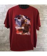 Delta Magnum Weight Bald Eagle T-Shirt Size XL Men's Short Sleeve - $14.85