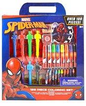 Karacter Corner Marvel Spiderman 100pc Coloring Set in Box - $9.11