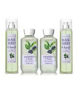 Bath & Body Works Blackberry & Basil Shower Gel & Fragrance Mist 4 Piece... - $39.99