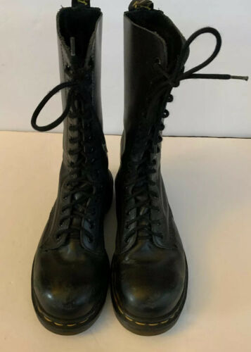 Primary image for Dr. Martens Airwair Calf Boots Size 6.5 Black Women's Hi Top 14 Eyelet