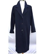 Warm Women's Sz 10 Larry Levine Long Black 100% Wool Over Coat Overcoat ... - $124.63