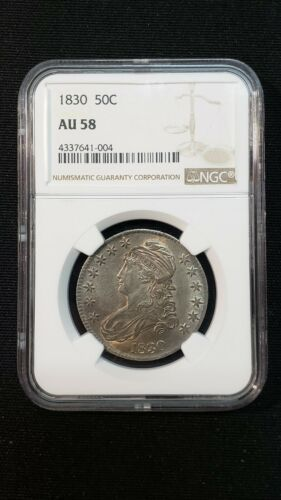 1834 Capped Bust Half Dollar 50C - Certified NGC AU58 Coin