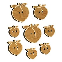 Plump Peach Solid Wood Buttons for Sewing Knitting Crochet DIY Craft - Medium 1. - $9.99